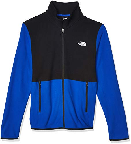 The North Face Men's TKA Glacier Full Zip Jacket, TNF Blue/TNF Black, 2XL