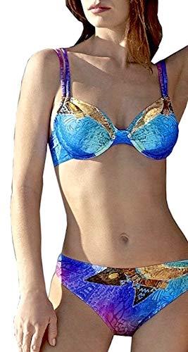Sunflair Damen Copper Sunset Bikini-Set, Mehrfarbig (Blau 26), 44, 90B (Herstellergröße: 44B)