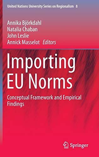 Importing EU Norms: Conceptual Framework and Empirical Findings (United Nations University Series on Regionalism (8), Band 8)