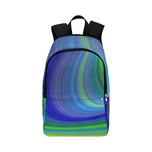 WUTMVING Space Design Abstract Sky Storm Digital Casual Daypack Travel Bag College School Backpack for Mens and Women