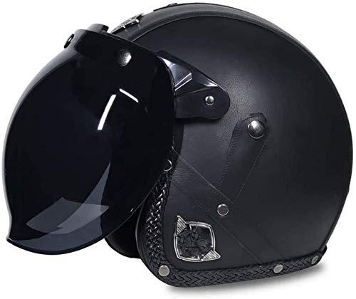 Piel adulto del casco de la motocicleta Chopper 3/4 del casco de...