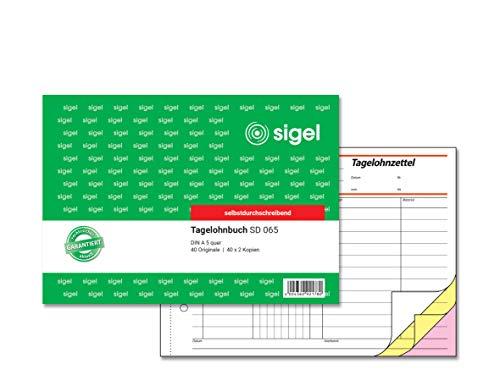 SIGEL SD065 Tagelohnbuch A5 quer, 3x40 Blatt, selbstdurchschreibend