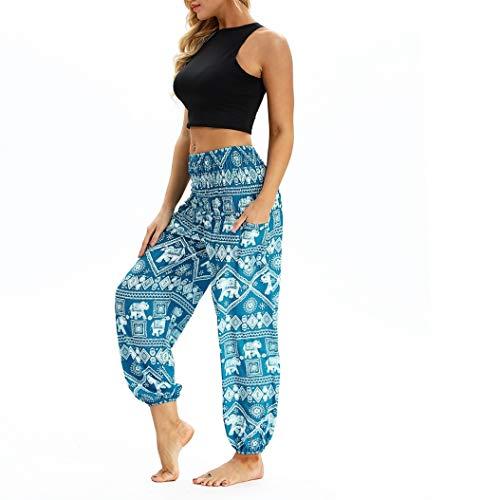 Generic Frauen Yoga Hosen mit Tasche Plus Size Thai Pluderhosen Elastische Taille Lose Wide Leg Workout Pilates Fitness Hosen