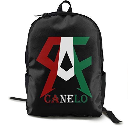 N / A Canelo Alvarez - Mochila escolar, color negro, viaje de trabajo, poliéster, unisex
