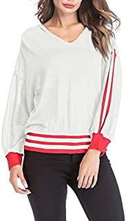LICHONGGUI Long-Sleeved Loose Hooded Sweater 2020 hot Tops (Color : White, Size : XL)