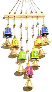 Mausam Arts Rajasthani Wooden Multicolor Bells Wall Hanging Home Decor - Garden Decor, Living Room, Bedroom, Guest Room, B...