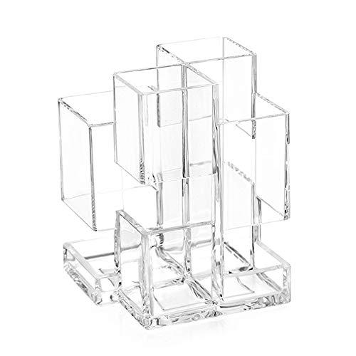 Lubier Cosmetics - Caja de almacenaje transparente transparente para cuidado de la piel, para escritorio, contenedor de almacenamiento, tocador