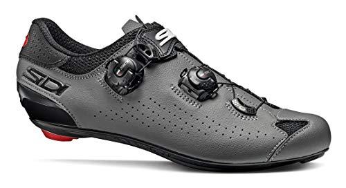 SIDI Scarpe Genius 10, Scape Ciclismo Uomo, Nero Grigio, 45