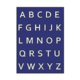 Rayher 4501200, Alphabet-Großbuchstaben, DIN A4, 1 Schablone mit Rakel im SB-Btl., linear