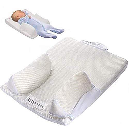 N\ A Almohada para Dormir para Bebés Recién Nacidos/Cojín para Congestión Antirreflujo Y Cólicos Cabeza Plana, Almohadilla para Dormir para Bebés Prevención Cabeza Antiplana para Bebés Blanco