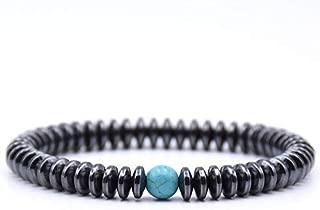 BAOKUANH Bracelet Beaded Bracelet Natural Stone Beads Black Simple Style Men Punk Jewelry Bracelets