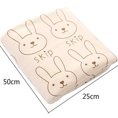 Gbcyp Microfiber-badhanddoek voor volwassenen Snel absorberend drogen Zacht dik antibacterieel droogbad Strandlaken, rijst, M