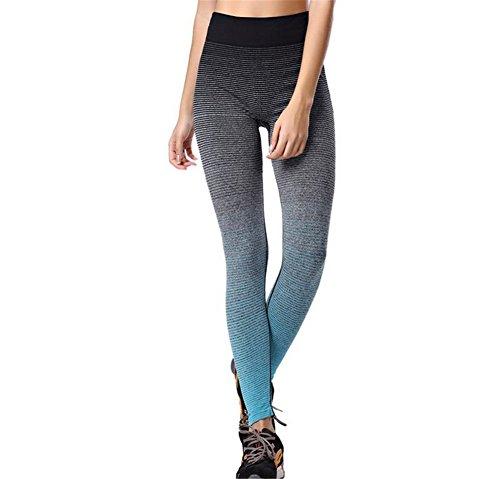 Hippolo Jogginghose leggings Hose Sportanzug Sporthose Training Fitnessanzug yogapants Elastische Dünne Gestreifte Ombre Yoga Leggins...