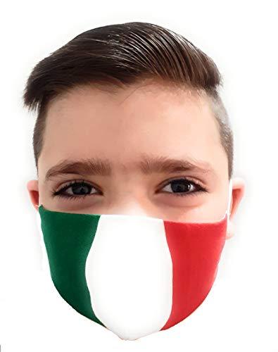 MASCHERINA ITALIA BAMBINO 4/10 ANNI IN COTONE, LAVABILE PRODOTTA IN ITALIA