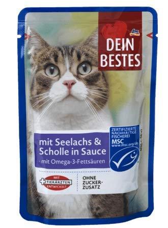 Dein Bestes Nassfutter für Katzen - 12er Pack (12 * 100g) (Seelachs & Scholle in Sauce)