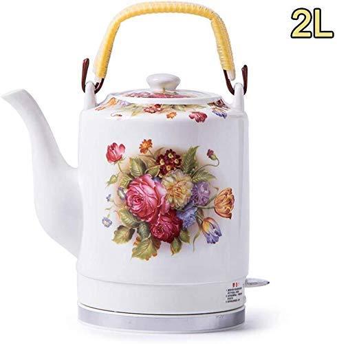 Bouilloires en céramique bouilloire électrique sans fil eau Teapot, 2L Teapot-Retro Jug rapide 8bayfa