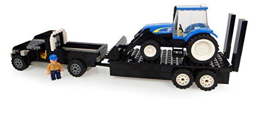 Universal Hobbies–uhk1211–Pick Up mit Seiner Anhänger und Traktor–New Holland mit Ladegerät und Bauer–231-teilig