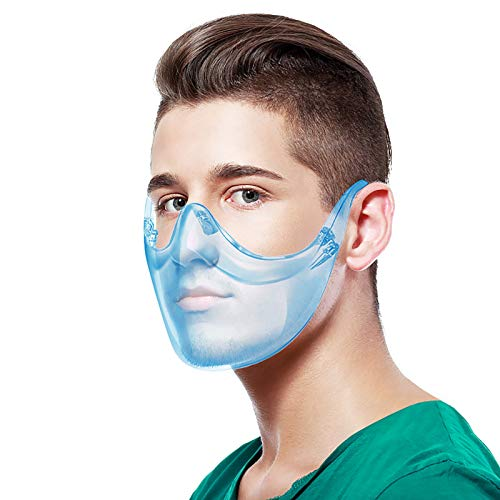 Koippimel 1Pc, Colorful Clear Face_Mask_Shield Reusable, Washable Transparent_Masks, for Restaurant, Fast Food, Chef, Deaf and Hearing Impaired People, Lip Reading, 1201 Style_154