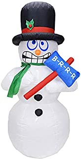 LIMINGZE Ornament 1.8M Jumbo Snowman Electric Inflatable Air Mold Yard Decoration Holiday Christmas