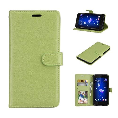 Cover LG K5, Custodia d'Affari in Pelle Basamento Protettiva Case Cover per LG K5 [Verde]