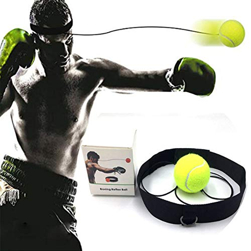 toisgo Boxing Reflex Ball on String with Adjustable Headband, Soft Foam Balls Improve Hand Eye Coordination,Reaction Speed,Focus,ccuracy, Cardio Sports Exercise Equipment