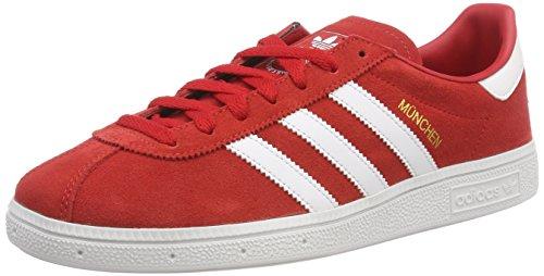 adidas Herren Munchen Fitnessschuhe, Rot (Rojo 000), 41 1/3 EU