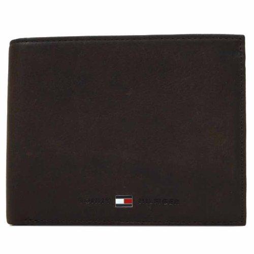 Tommy Hilfiger Johnson Trifold Wallet, Portafoglio Uomo, Marrone (Braun (Dark Brown 201), 13x10x2 cm (B x H x T)