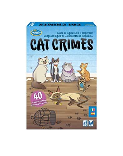 ThinkFun Cat Crimes, Juego de Lógica, 1+ Jugadores, Edad Recomendada 8+, multicolor (76367)