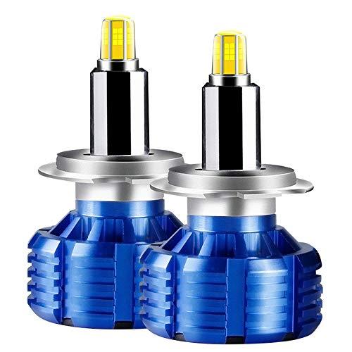 Ampoules de phares H1 LED, faisceau haute/basse 10000LM (2x5000LM) 80W (2x40W) 6500K, ampoule DHI, blanc froid, 2PCS