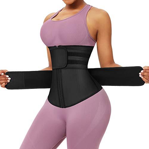 FeelinGirl Women's Latex Underbust Corset Waist Training Trainer Sport Girdle