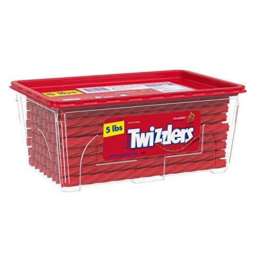TWIZZLERS Twists Strawberry Flavored Chewy Candy, Easter, 80 oz Container