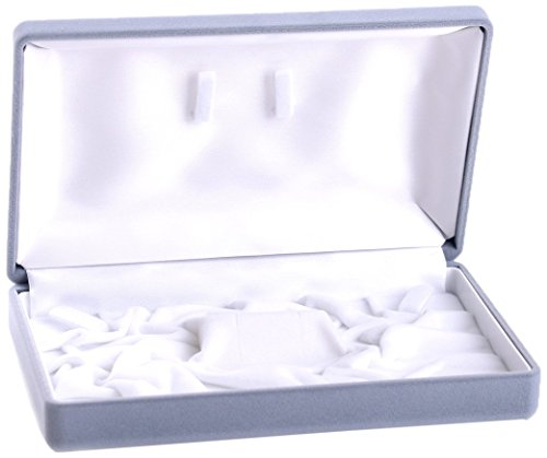 ワイドアクセサリー化粧箱 ベロアタイプ ブライダルネックレス・イヤリングピアスセットに適合します