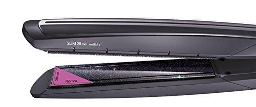 BaByliss Diamond Slim ST326E – Plancha de pelo Wet & Dry, 16