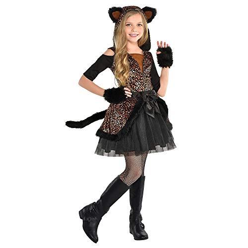 Kids Hooded Leopard Dress Costume   Small (4-6)   4 Pcs.