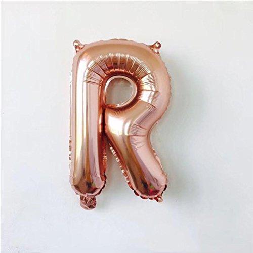 Ballons de Décoration,Fulltime®26 A-Z 10x16 Pouces Nombre A-Z Feuille de Ballons numériques pour Anniversaire de Mariage Fête (R)