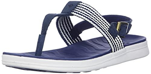 Sperry Women's Adriatic Thong Sling Sandal, Navy, 7 M US