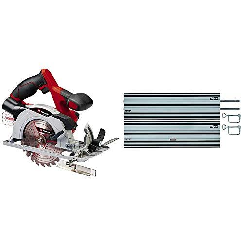 Einhell Akku-Handkreissäge TE-CS 18/150 Li - Solo Power X-Change (Lithium Ionen, Schnitttiefe + Neigungswinkel werkzeuglos einstellbar, LEDs, inkl. Führungsschiene, ohne Akku und Ladegerät)