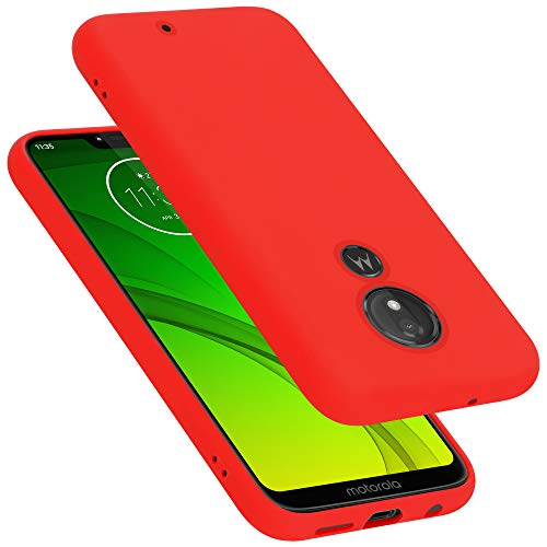 Cadorabo Hülle für Motorola Moto G7 Plus EU Version in Liquid ROT - Handyhülle aus flexiblem TPU Silikon - Silikonhülle Schutzhülle Ultra Slim Soft Back Cover Hülle Bumper