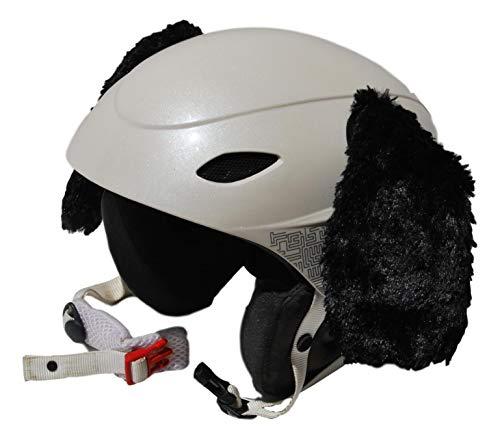 Orejas Perro Negras en Peluche para Casco de esquí, Casco de Snowboard,...
