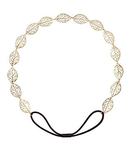SIX Haarschmuck [Damen Haarkette] - Premium Kopfschmuck » Blätterkranz « Beliebter Frauen Schmuck - Stylische Kette – Sommeroutfit - Romantik-Chic – Karneval - Haaraccessoire (456-702)