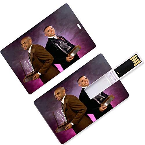 Unidades USB Flash Thumb Drives Jugador Nacional de Baloncesto Asociación de Forma de Tarjeta de Crédito Playoffs Finales Allstar Super Star Away Game Doble Equipo U Disco Memory Stick Storage Semifin