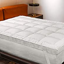 D & G THE DUCK AND GOOSE CO Extra Thick & Soft Mattress Topper King Size, Breathable Bed Topper Pad with Generously Filled Snow Fiber Filling Ideal for Softening a Too Firm Mattress