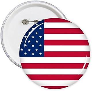 USA Drapeau national Amérique du Nord Pays Symbole Mark Motif rond badge à épingle Bouton 5pcs M