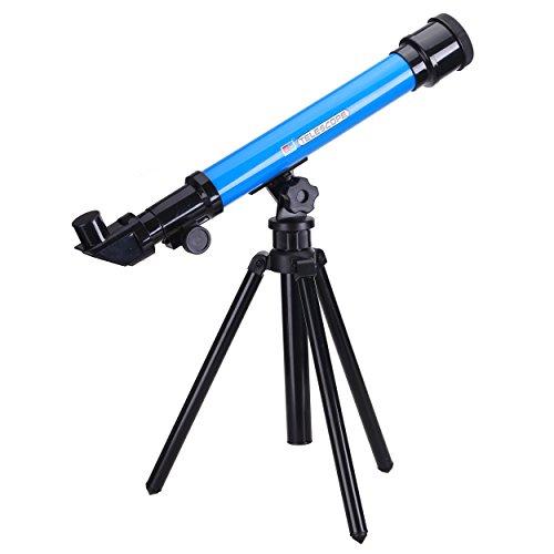 TOOGOO(R)) Juguete Educativo De Aprendizaje Juguetes De Ciencia De Astronomia para Ninos Juguete De Telescopio para Ninos con 3 Oculares 20x 40x 60x (Color Al Azar)