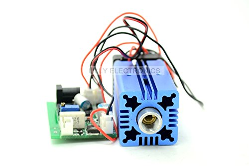 High Power Blue Lasers 445nm 447nm 450nm 1.3w-1.5w Dot Diode Module 12V w/TTL & Fan Cooling
