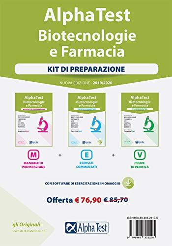 Alpha Test. Biotecnologie e farmacia. Kit di preparazione: Manuale di preparazione-Esercizi commentati-Prove di verifica. Con software di simulazione