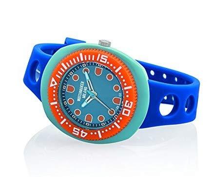 Watchmaker Milano Sub Orologio Uomo da Polso Submariner Vintage a Quarzo Anni 70 (Arancione e Blu)