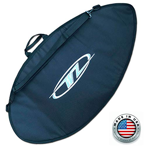 """Wave Zone Skimboards Bag - Travel or Day Use - Padded (Black, Small - 45"""")"""