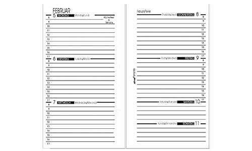 BIND B570220 - Recambio para calendario semanal A7-2020, 1 semana / 2 páginas, calendario con sistema