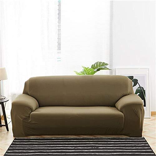 WXQY Funda de sofá elástica de Color sólido en Forma de L Funda de sofá elástica de Esquina combinación protección para Mascotas Funda de sofá Antideslizante A3 1 Plaza